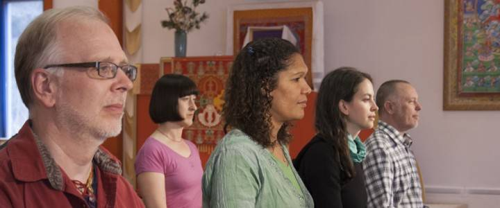 Main Shrine Room Meditators