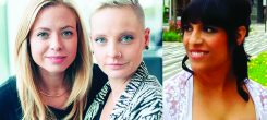 """Gabrielle Donnelly, Marguerite Drescher and Aarthi Tejuja will teach """"Brave Leadership: The Art of Hosting"""" Nov. 16-19, 2017."""