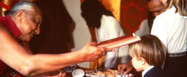 Dilgo Khyentse Rinpche at Karme Choling